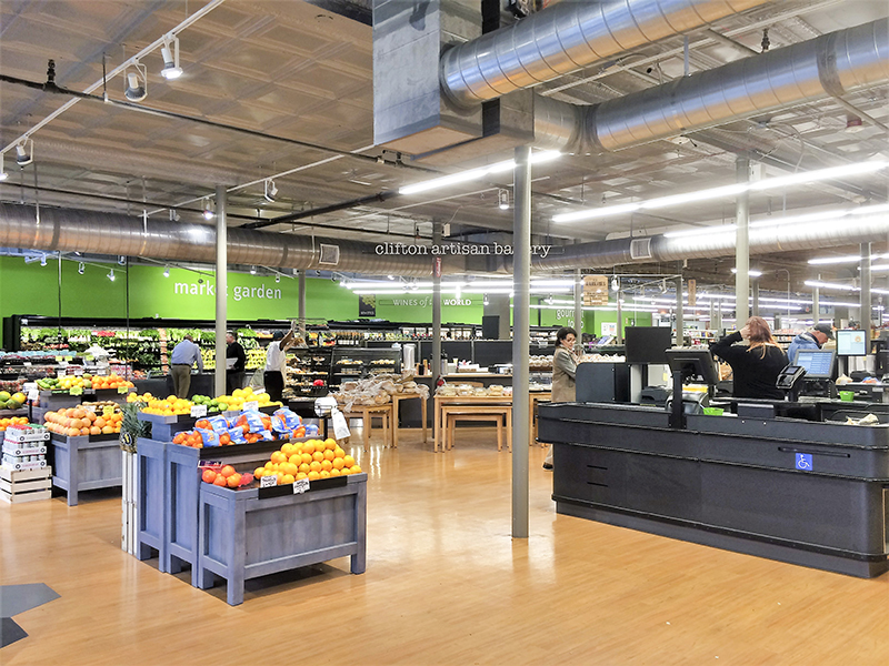 The new Clifton Market features a modern interior.