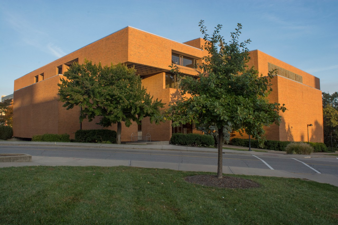 Exterior shot of the UC College of Law