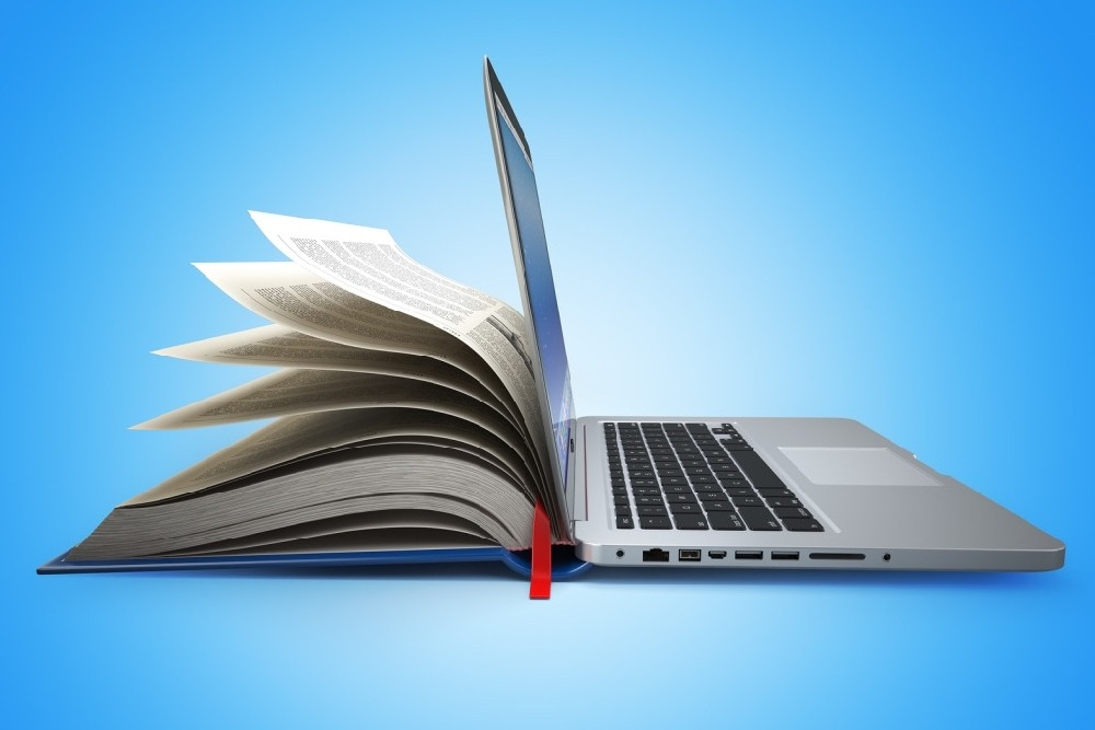 Half book-half laptop. photo/Flickr Commons