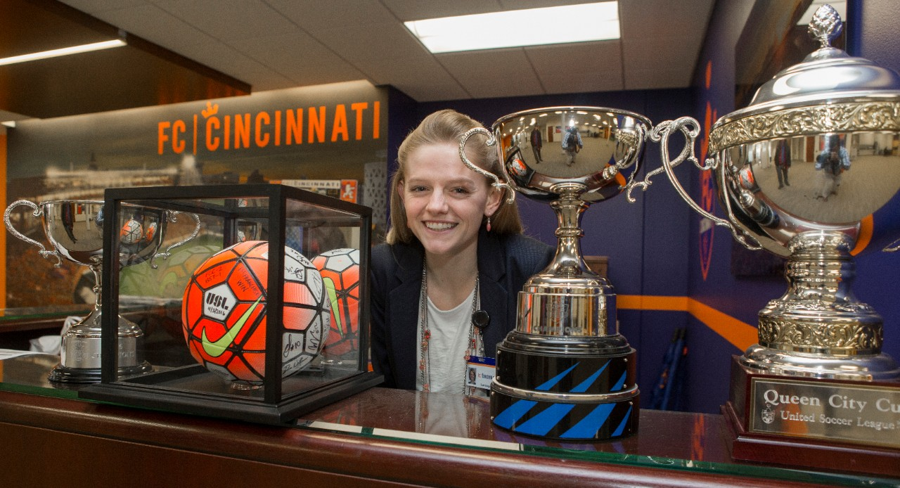 UC student Samantha Burgess is working for FC Cincinnati.