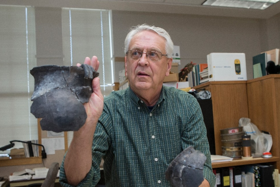 Prehistoric pottery found at archaeological sites in Arizona's Upper Basin.