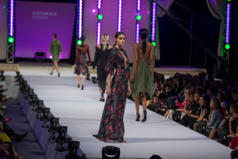 Models walk the runway at the 67th annual DAAP Fashion Show