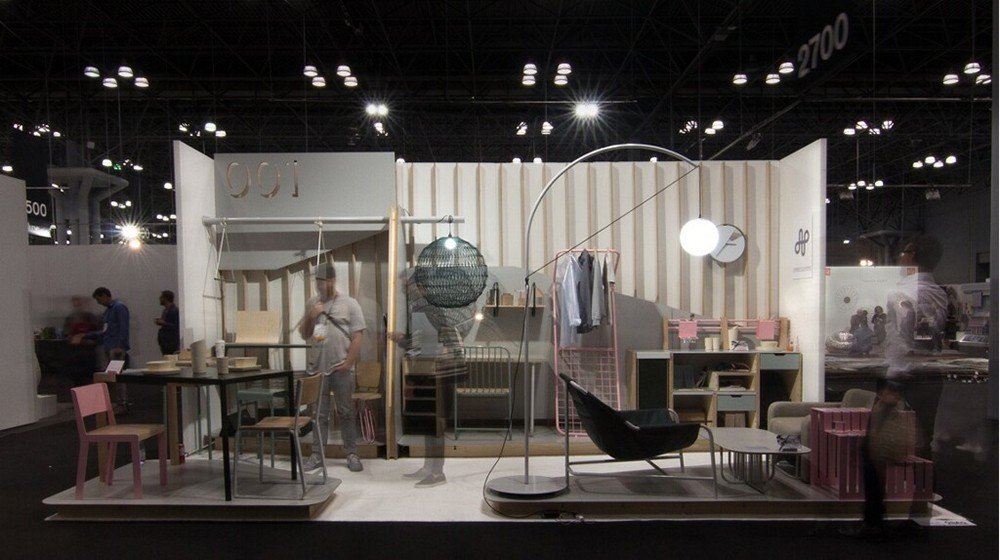 A shot of the work-live collection at ICFF.
