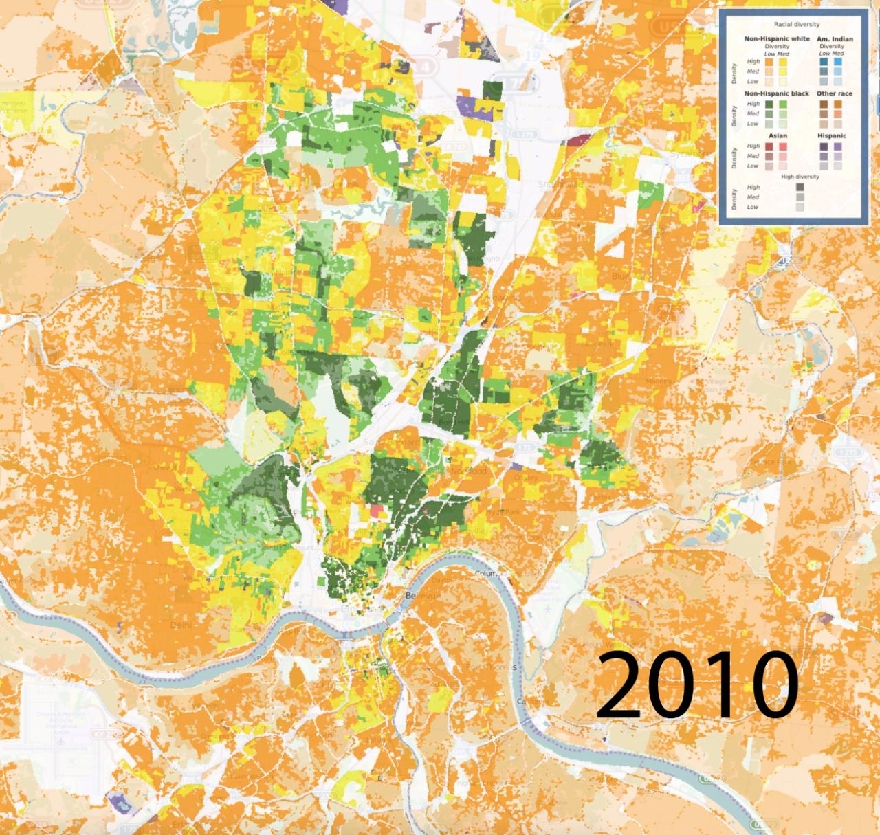 Diversity Map University Of Cincinnati - Us ravial diversity map