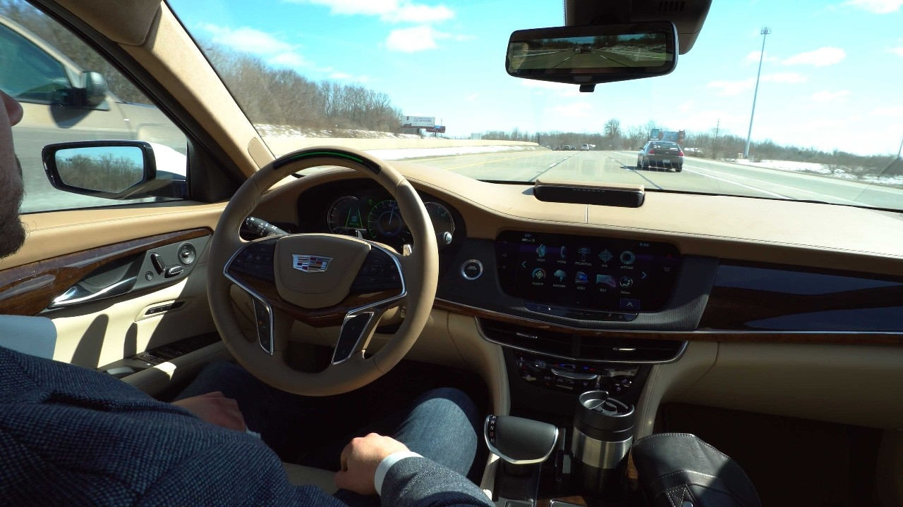 The U.S. Department of Transportation said distracted driving was responsible for nearly 1 in 10 fatal accidents in 2016, a year that saw 37,461 motorist fatalities. Distracted driving is a reason the automation depicted in this image of a Cadillac CT6 holds promise for a safer alternative. (Provided by Cadillac)