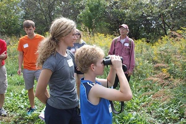 Students enjoy a nature hike at PLANETpalooza