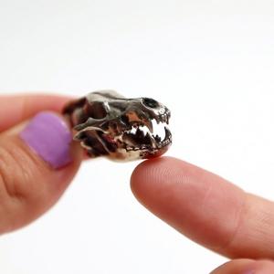 fire and bone dire wolf skull replica