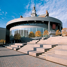 Views such as this of the remade Tangeman University Center led to the University of Cincinnati's inclusion on Forbes Magazine's list of the world's most beautiful campuses.