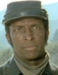 Dorian wearing a union soldier uniform from the Civil War.