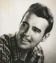 Up close shot of a handsome Tennessee Ernie Ford.