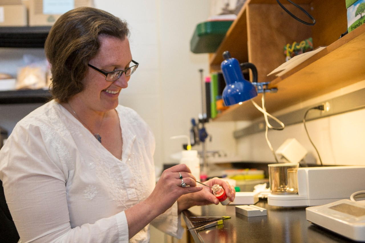 UC assistant professor of geology Brooke Crowley found pollution from heavy trucks in one of the most remote places on Earth. (Photo by Andrew Higley/UC Creative Services.)
