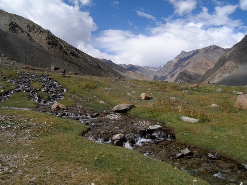 The Manali-Leh Highway traverses the beautiful Himalaya Mountains.