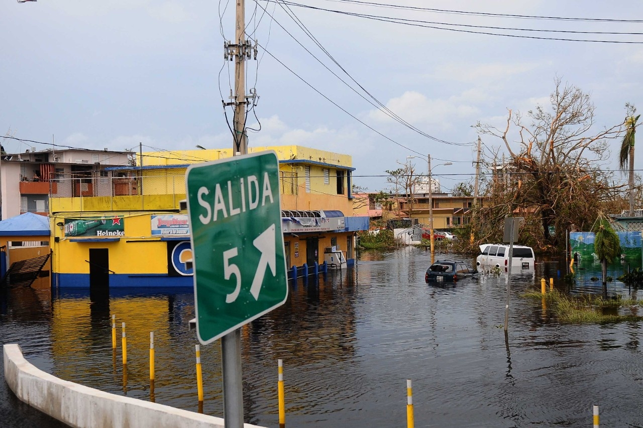 Hurricane Maria downed trees and power lines and caused extensive flooding across Puerto Rico. (Sgt. Jose Ahiram Diaz-Ramos/PNG)