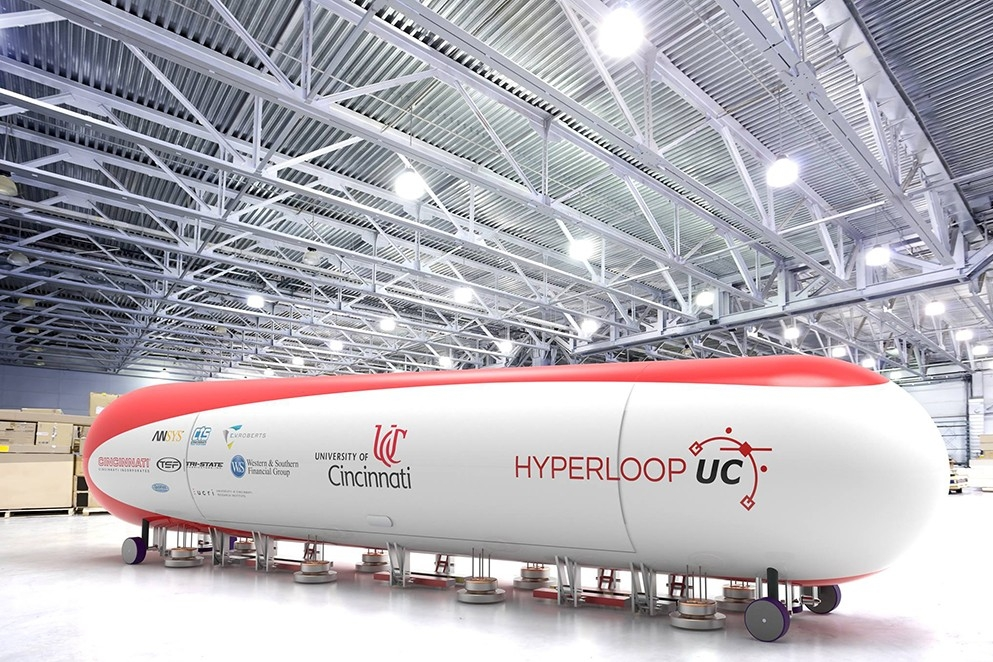 Rendering of a finalized Hyperloop UC pod.