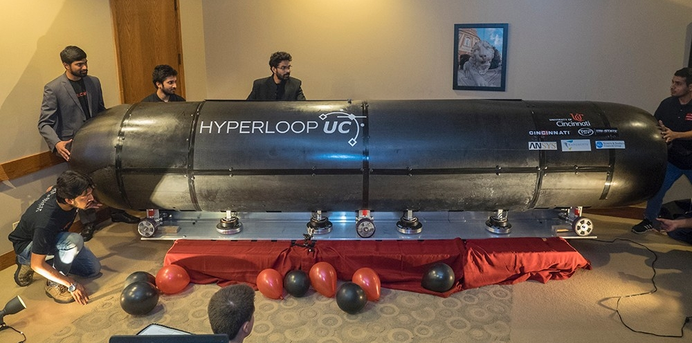 Hyperloop UC students prepare prototype for demo on Oct. 17