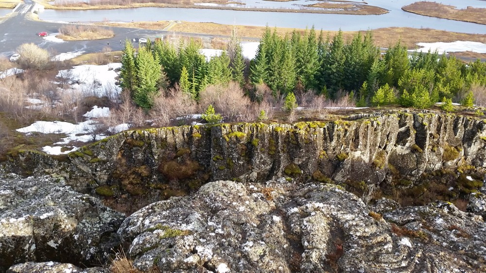 Icelandic rock ridges where separated tectonic plates are raised above ground.photo/Jacob Orkwis
