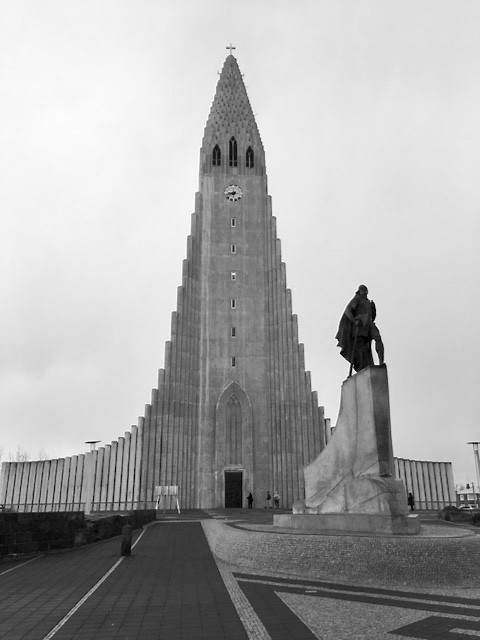 Hallgrímskirkja, Iceland's largest Lutheran church stands tall, architecturally pointed toward the sky.photo/Robin Selzer