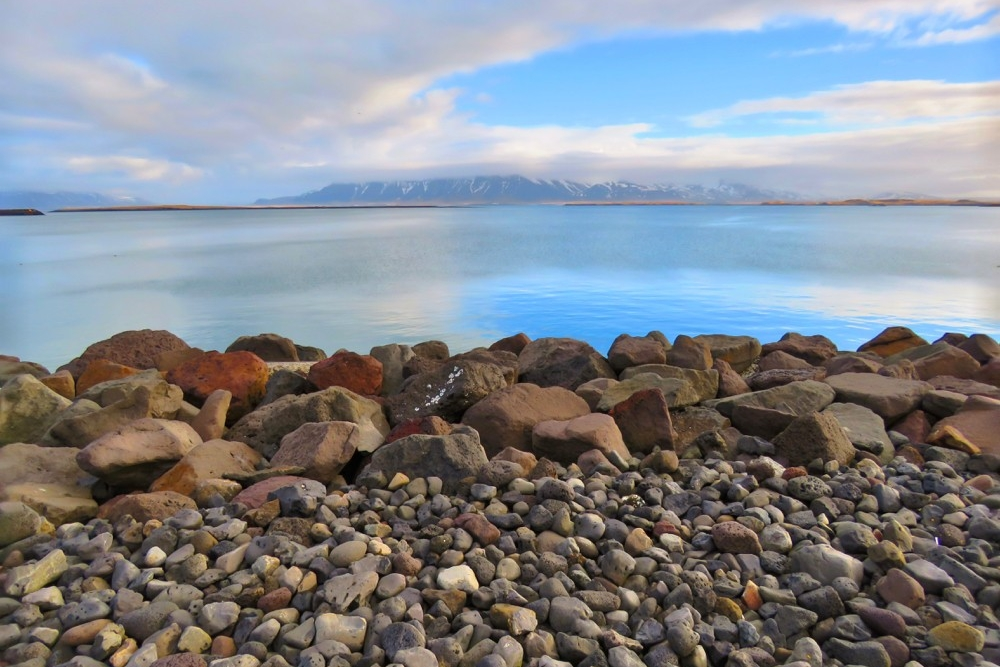 Ocean view from the edge of the rocks in Iceland.photo/Colleen O'Brien
