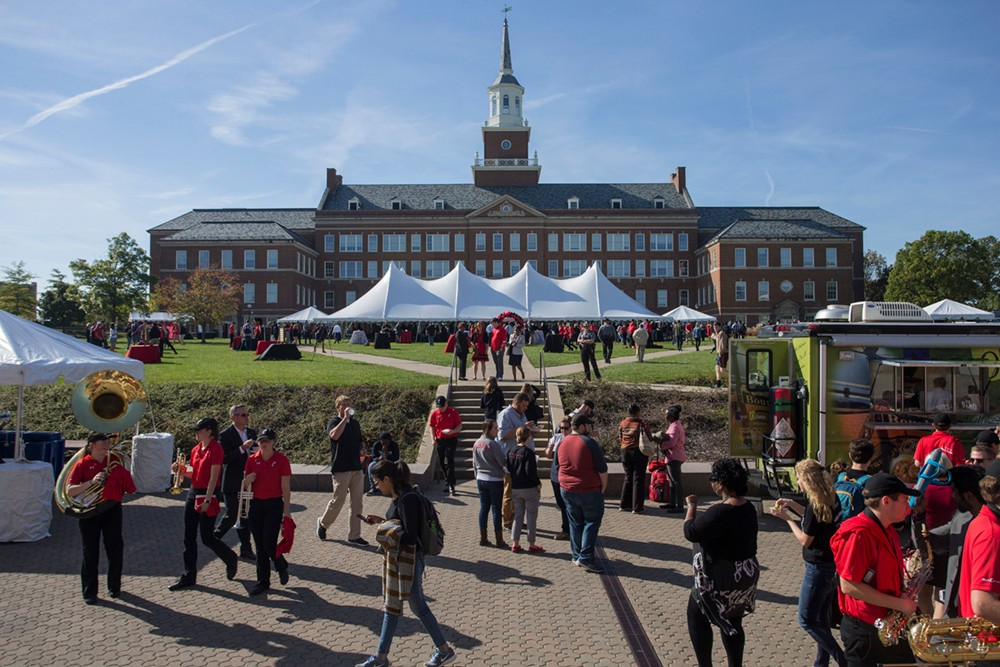 Party on McMicken Commons after the inauguration