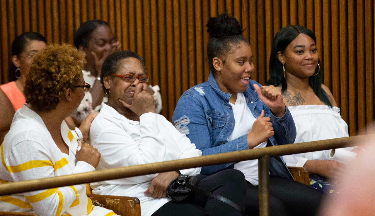 Family members of Christopher Miller react to the judge's ruling ordering charges to be vacated and Miller's immediate release after serving 17 years in prison.