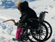 Alaskan fishes from wheelchair