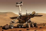 A mechanical rover or piece of equipment used to explore the planet Mars