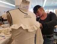 DAAP student works in fashion design studio