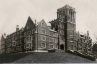 University of Cincinnati's Memorial Hall dormitory, a vintage photo.