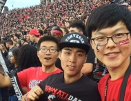 Chinese students enjoy UC football game