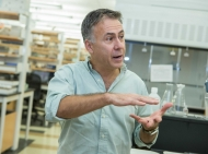 Michael Polak in his lab
