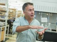 Michael Polak in his lab