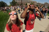 UC students observe solar eclipse