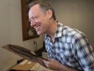 UC professor Eric Tepe in Herbarium