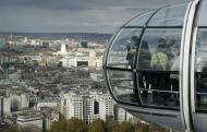 A skyline view of London, England