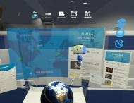 Virtual reality image of airplane experience