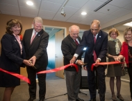 UC officials cut ribbon to new staff success center