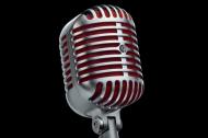 A classic, old-style microphone designed by University of Cincinnati alum Benjamin Bauer.