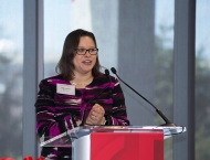 Bleu Marshall speaks at Spencer Hall event