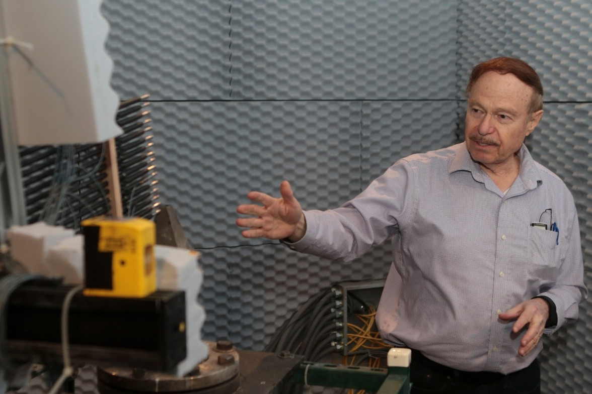 UC distinguished professor Ephraim Gutmark talks about recording jet engine noise in an anechoic chamber.