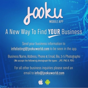 Jooku, a mobile app used to find local businesses.