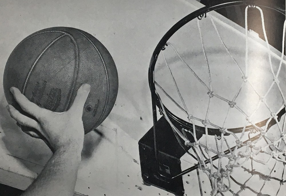 Bearcats basketball rim in 1948