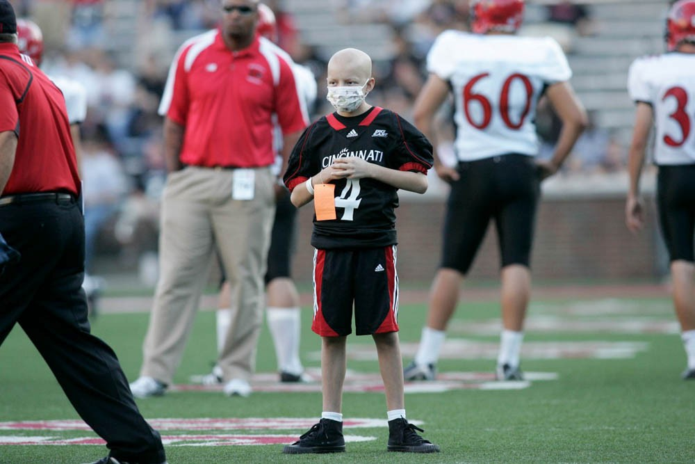 Mitch Stone remains the Bearcats' good luck charm throughout the 2009 season. And they became his. Photo/Lisa Ventre/UC Creative Services
