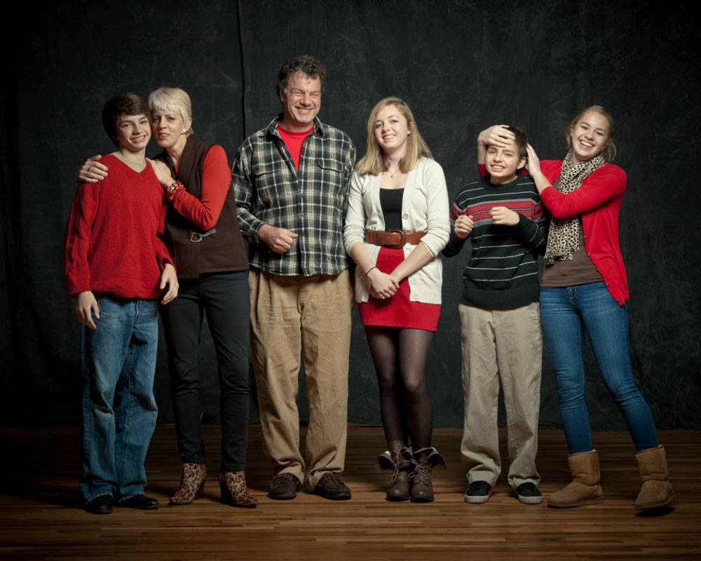 The Stone family in 2012, during Mitch's 8th grade year. Photo/Provided