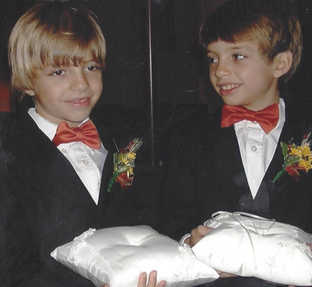 Nick and Mitch Stone as dual ring bearers. Photo/Provided