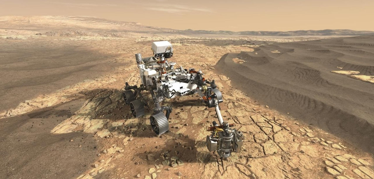 An artist's rendering of the still-unnamed Mars 2020 rover. (NASA/JPL-Caltech)