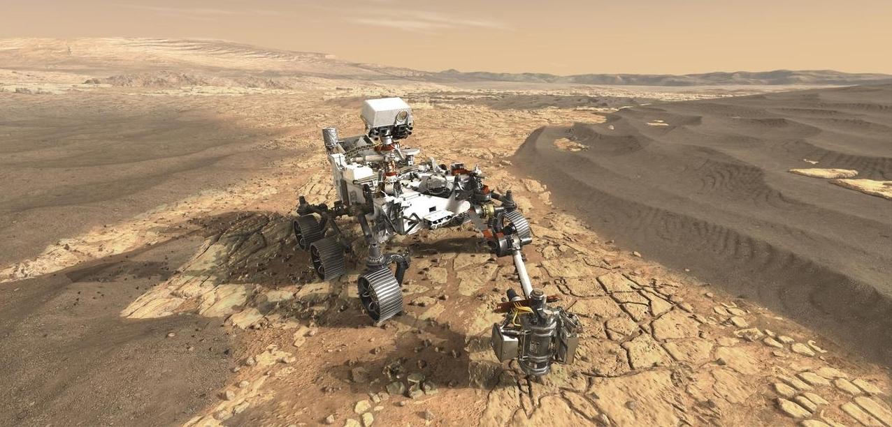 An artist's rendering of the still-unnamed Mars 2020 rover. (NASA/JPL-Caltech)