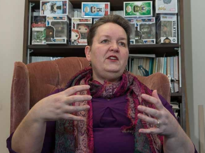 UC English professor Rebecca Borah
