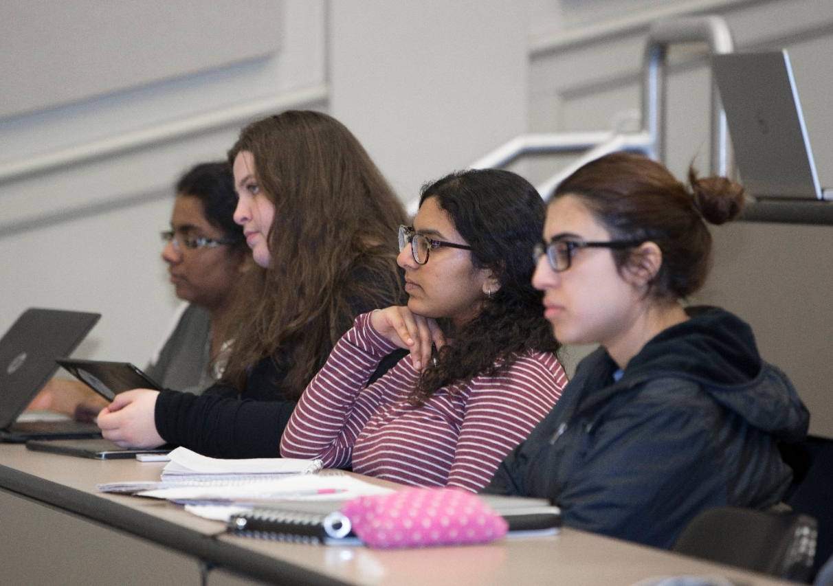 UC students listen to guest speaker Molly Wellmann during a presentation in their medical botany class.