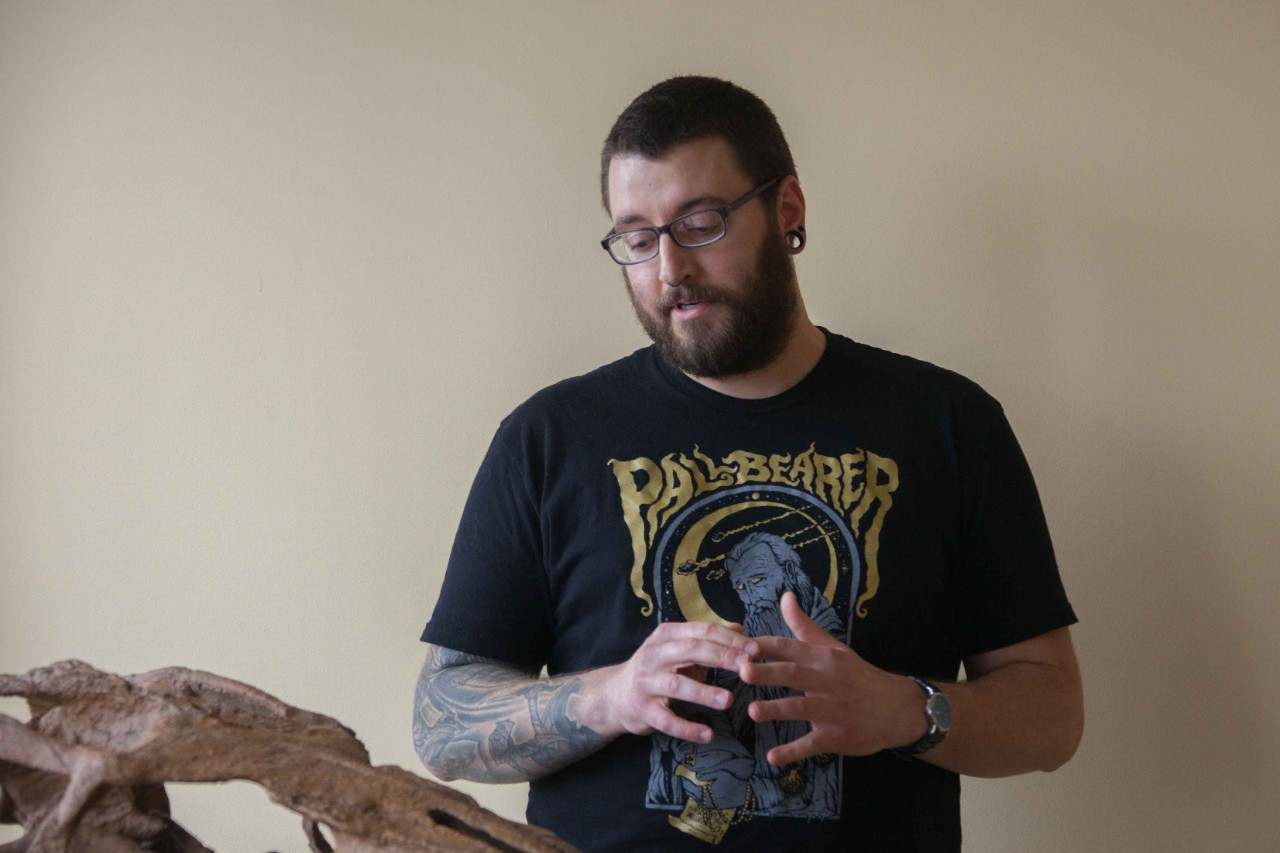 UC graduate student Samuel Garvey is studying the dentition of mosasaurs to learn more about what prey they likely hunted in Cretaceous seas.