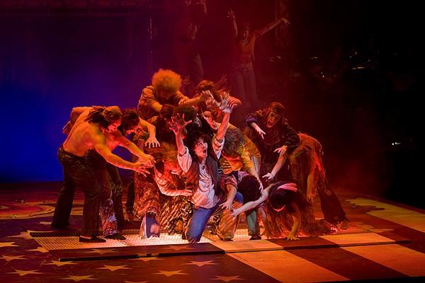 CCM musical theater students perform 'Hair' as part of the college's 40th anniversary celebration.